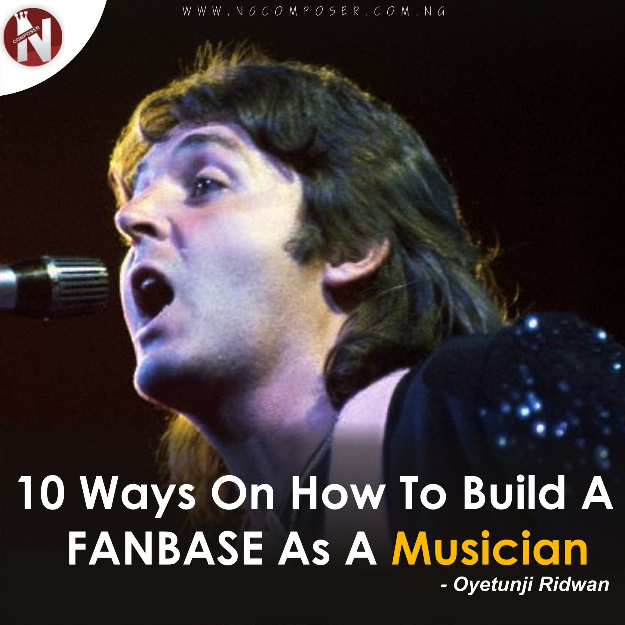 How To Build A FANBASE As A Musician