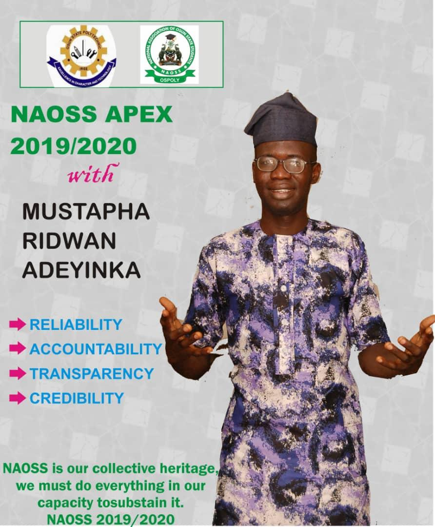 Vote for Mr A1 as Naoss IREE CHAPTER President