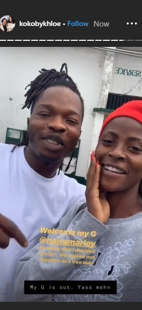 Khloe Spotted With Naira Marley After His Release From Prison