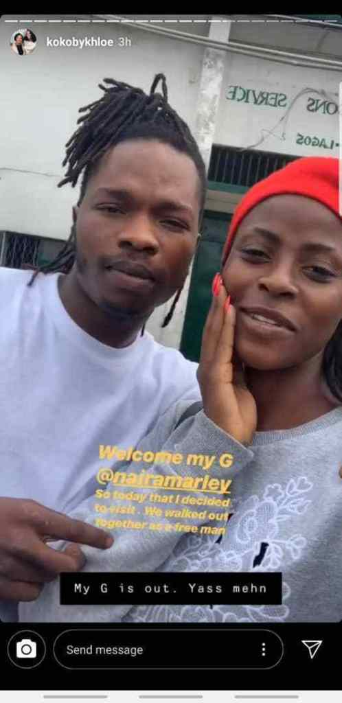 #BBNaija Star, Khloe Spotted With Naira Marley After His Release From Prison (Photos)