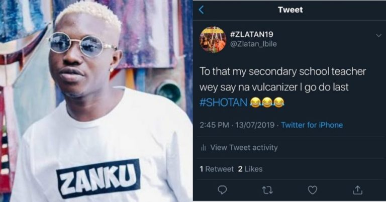 Zlatan Calls Out Secondary School Teacher Who Said He Will End Up A Vulcanizer