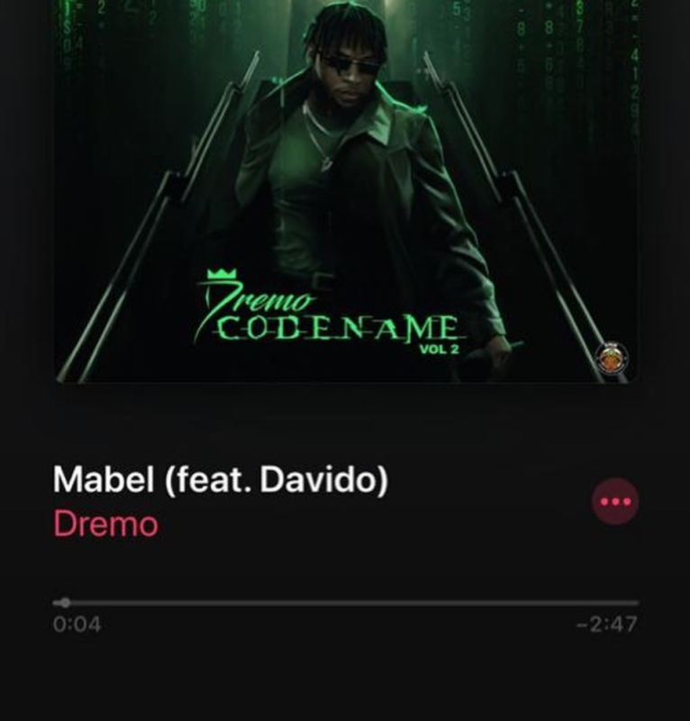 Dremo – Mabel Ft Davido